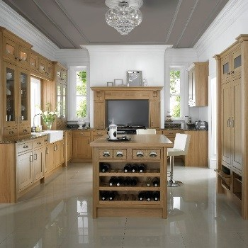 Mereway Kitchens English Revival Range in oak