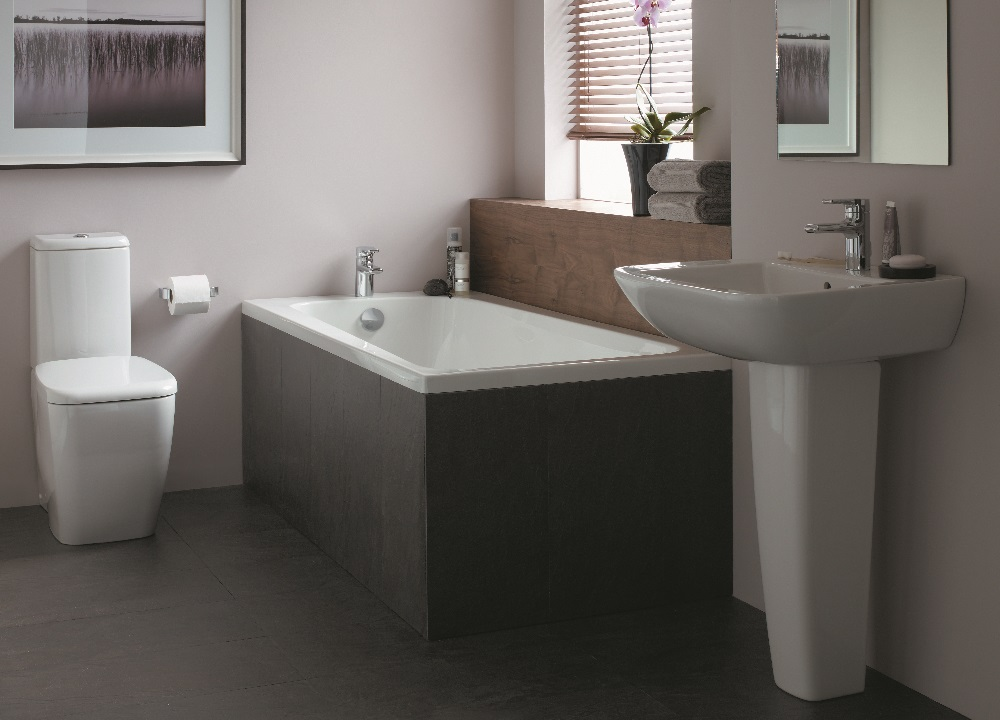 Ideal Standard single ended bath, toliet and washbasin