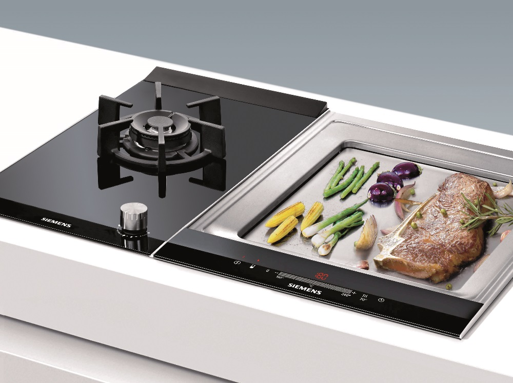 Siemens domino gas hob and teppan yaki cooktop